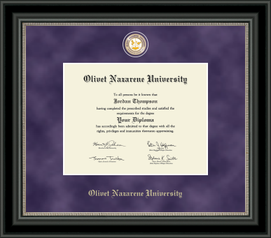 image of: Regal Edition Diploma Frame in Nior