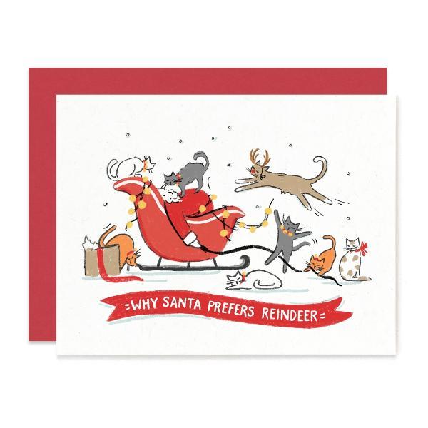 Santa Prefers Reindeer Card