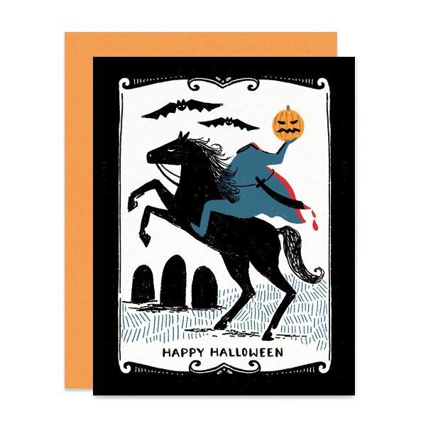"""Headless Horseman Halloween Card  4.25"""" x 5.5"""" (A2)"""