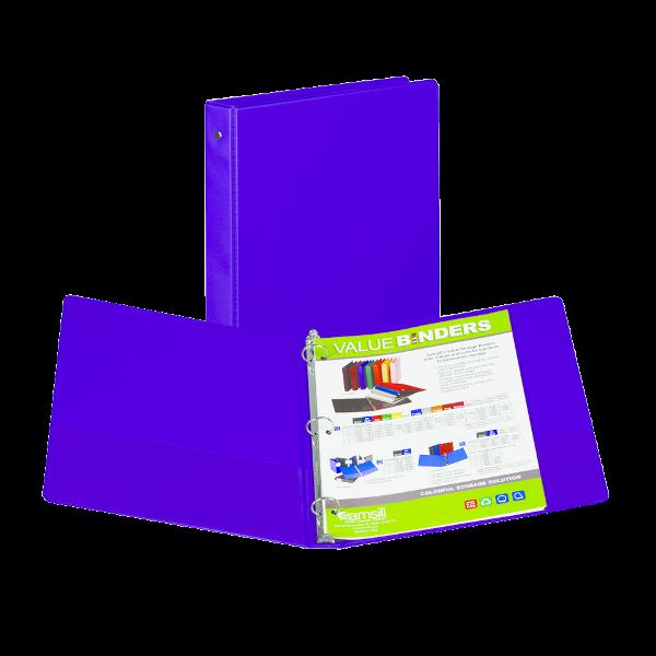 Samsill Value Storage Pocket Binder - Purple 1in
