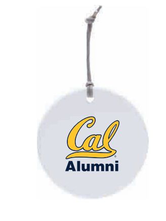 Ornament Ceramic Circle Cal Alumni