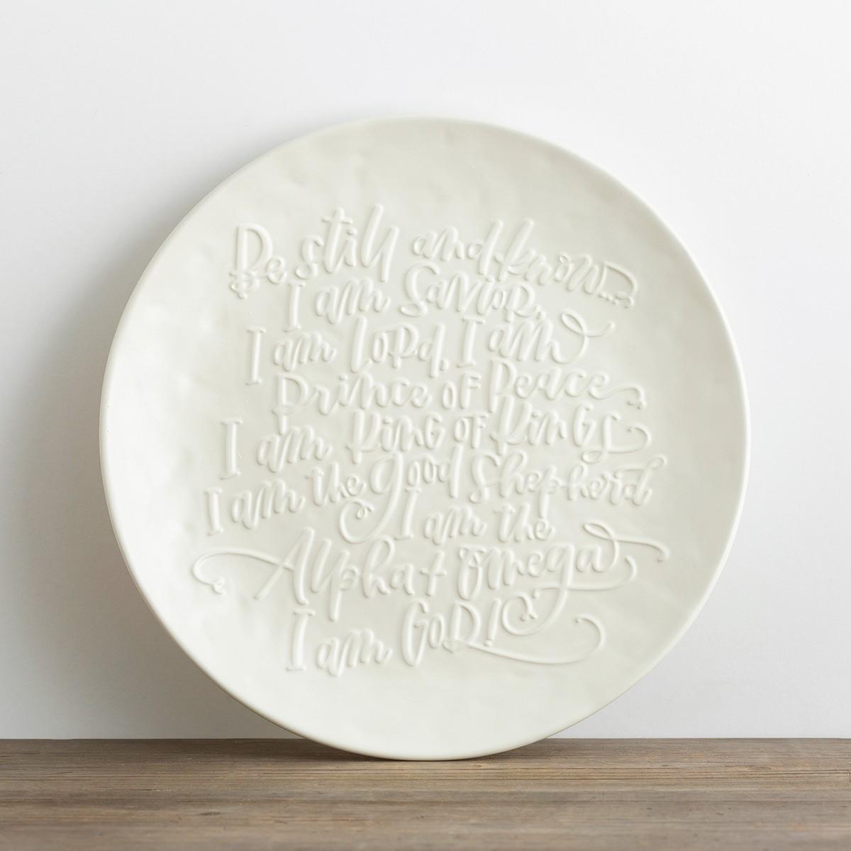 image of: DaySpring Be Still - Christmas Platter