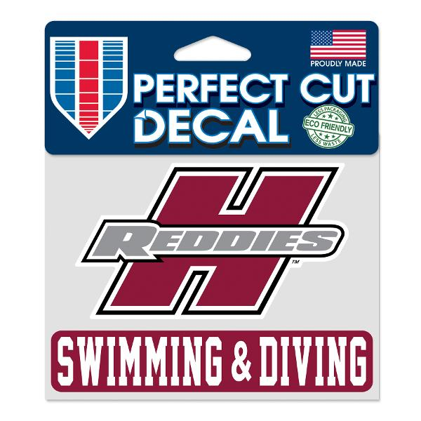 """Henderson Reddies 4"""" x 5"""" Swimming & Diving Perfect Cut Decal"""