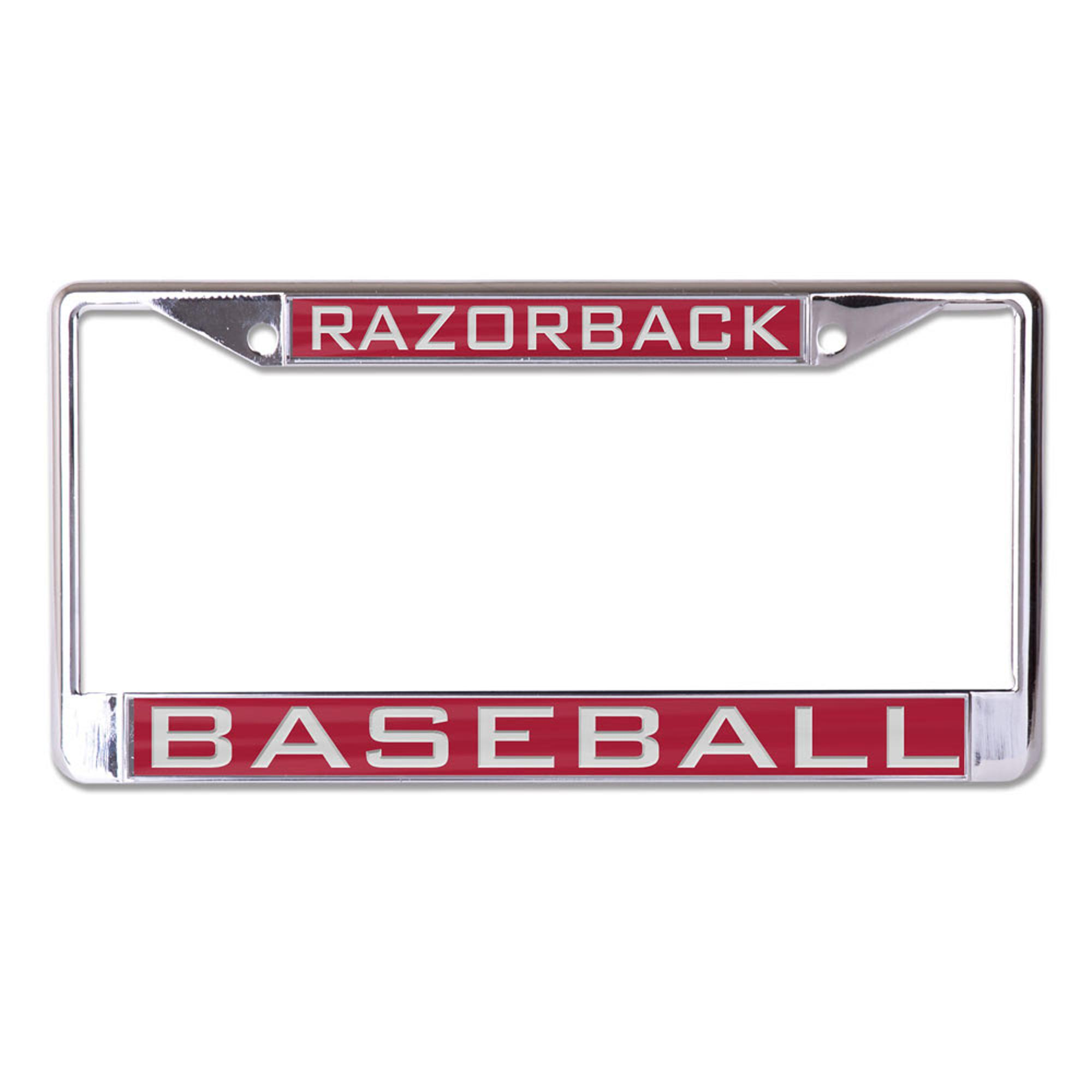 Image for Arkansas Razorback Baseball Wincraft Metal License Plate Frame