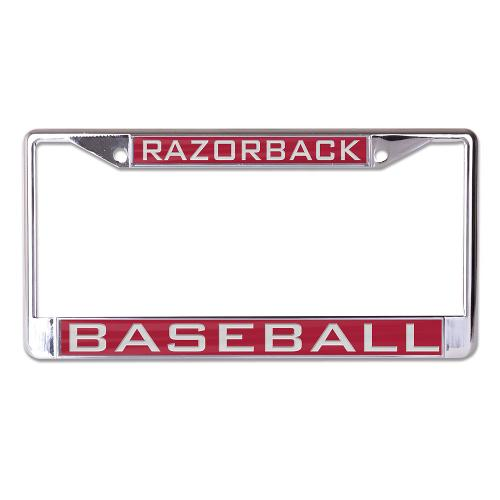 Arkansas Razorback Baseball Wincraft Metal License Plate Frame