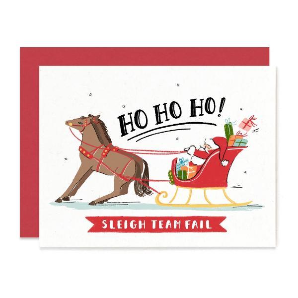 Ho Ho Horses Christmas Card