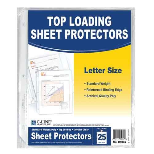 Top Loading Sheet Protectors 25ct