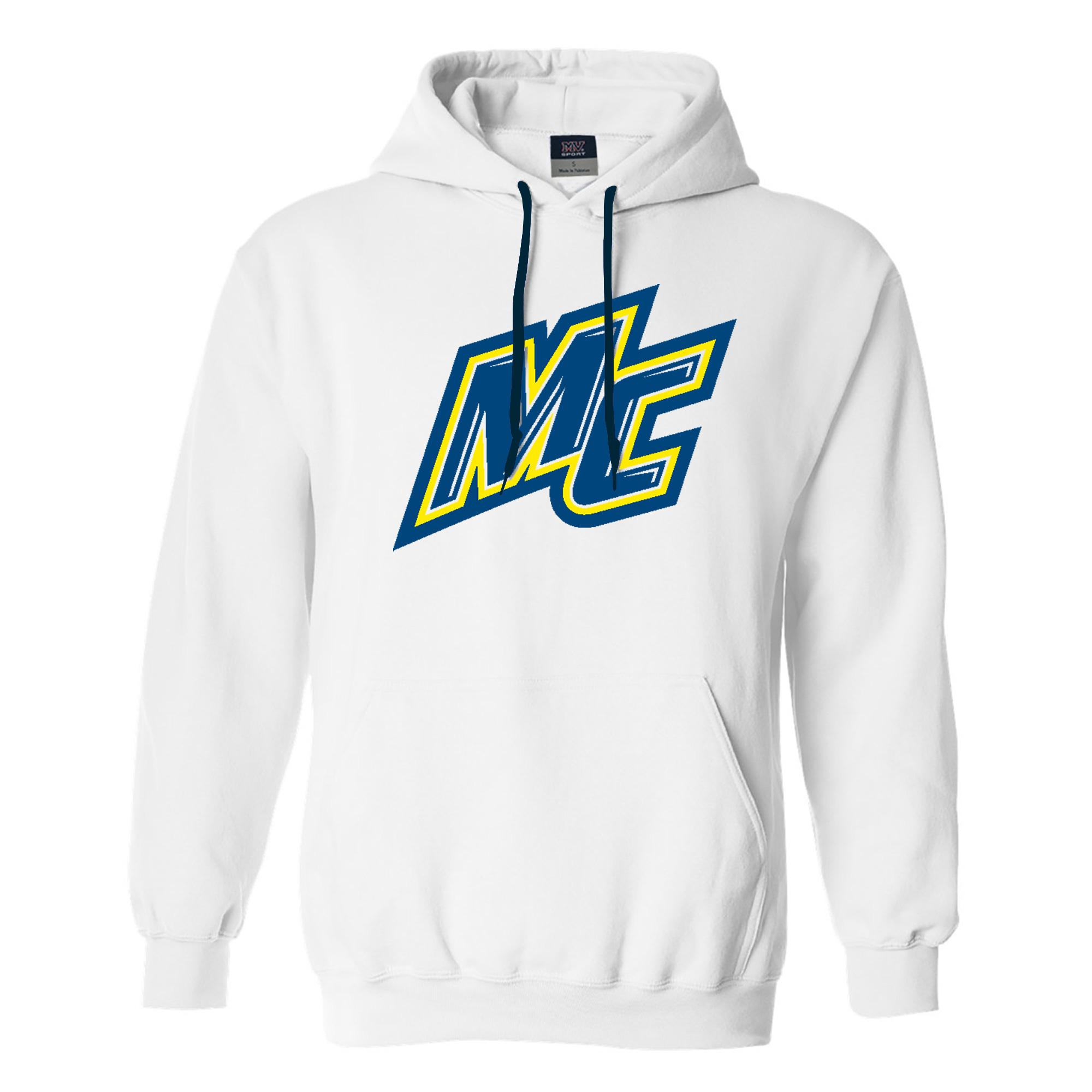 White MC Comfort Fleece Hood