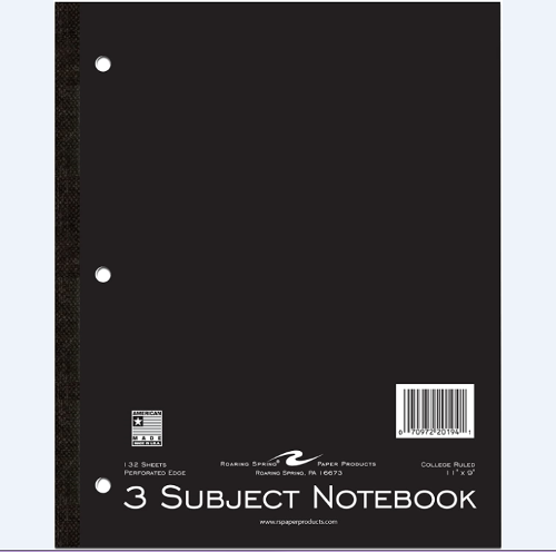 Roaring Spring 3-Sub Notebook
