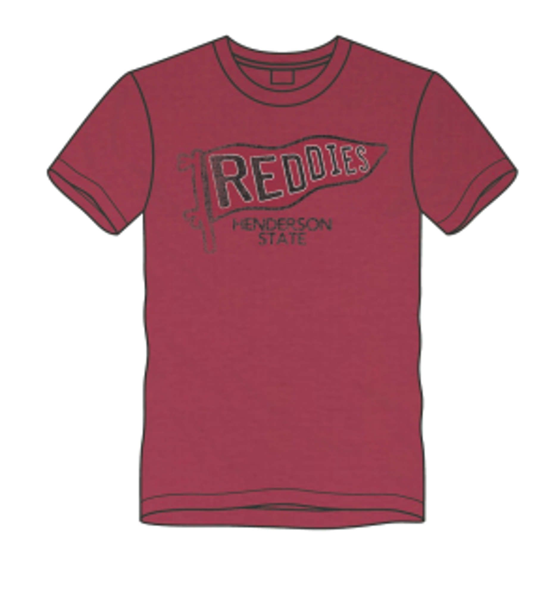 image of: Henderson State Pennant Short Sleeve T-Shirt
