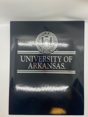 University of Arkansas Seal Black Glossy Folder