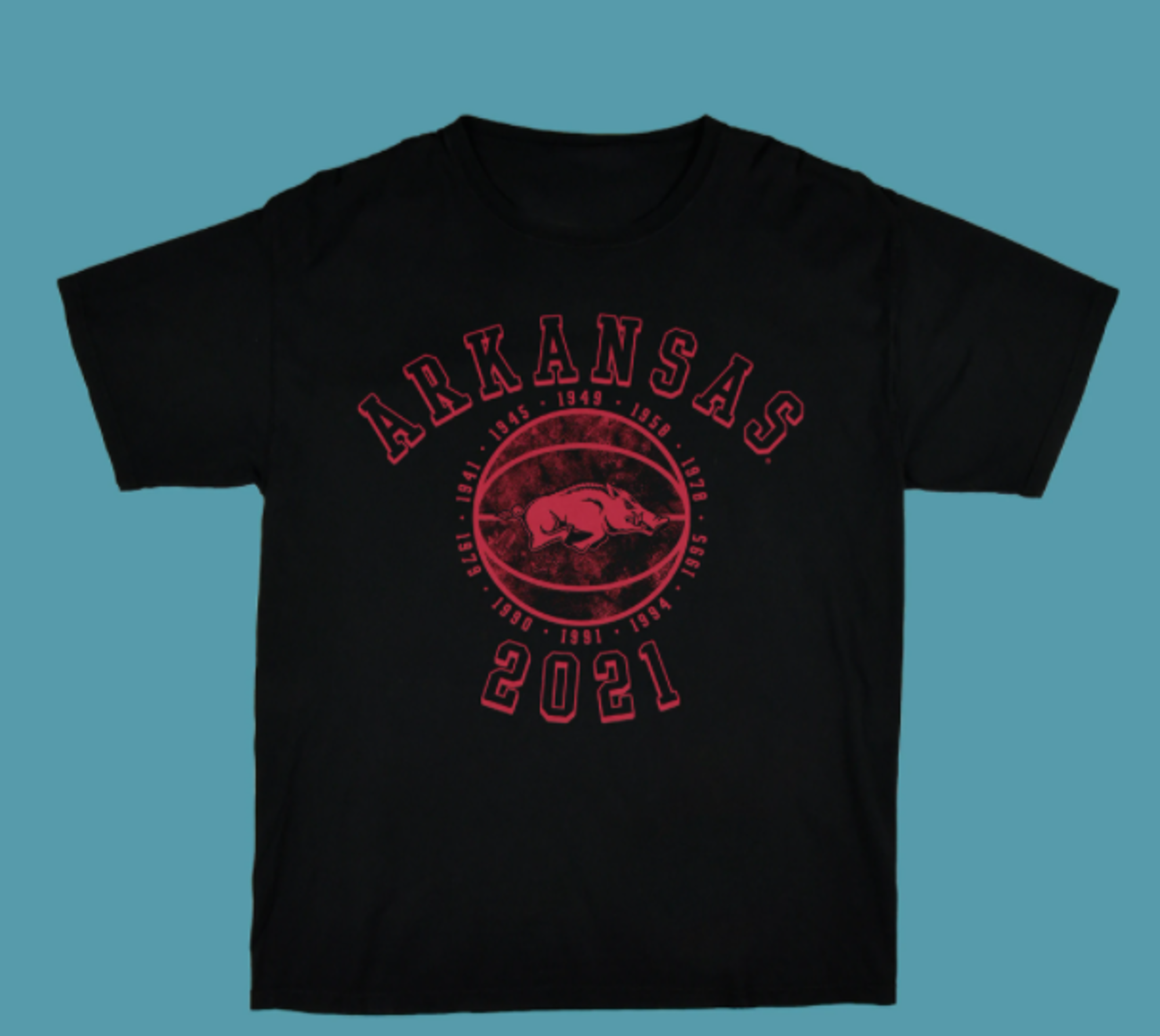 Image for Arkansas Razorbacks Elite 8 2021 Tee- Black