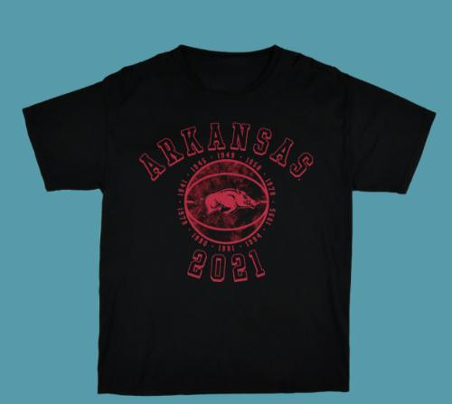 Arkansas Razorbacks Elite 8 2021 Tee- Black