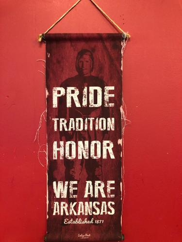 Arkansas Razorbacks Pride Tradition Honor Banner