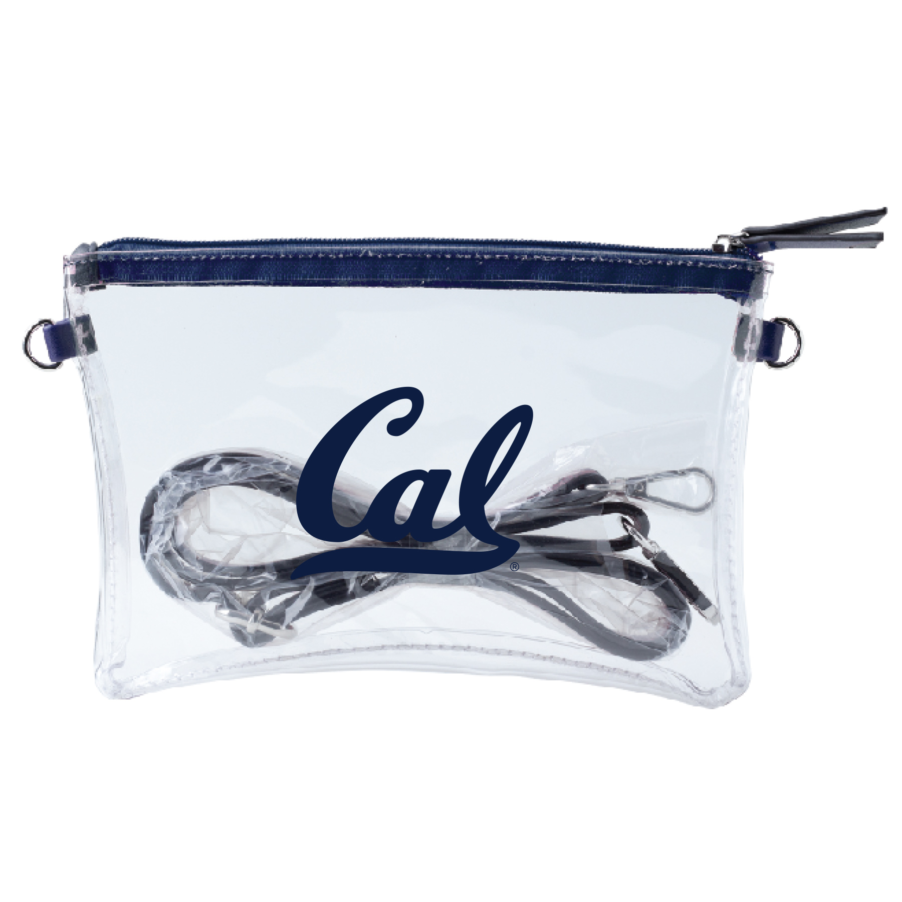 Detailed image of Clear Crossbody Bag Cal Logo