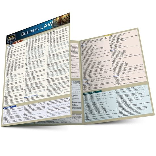 BUSINESS LAW LAMINATED STUDY GUIDE