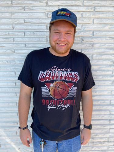 Arkansas Razorbacks Basketball Under the Lights Tee - Black