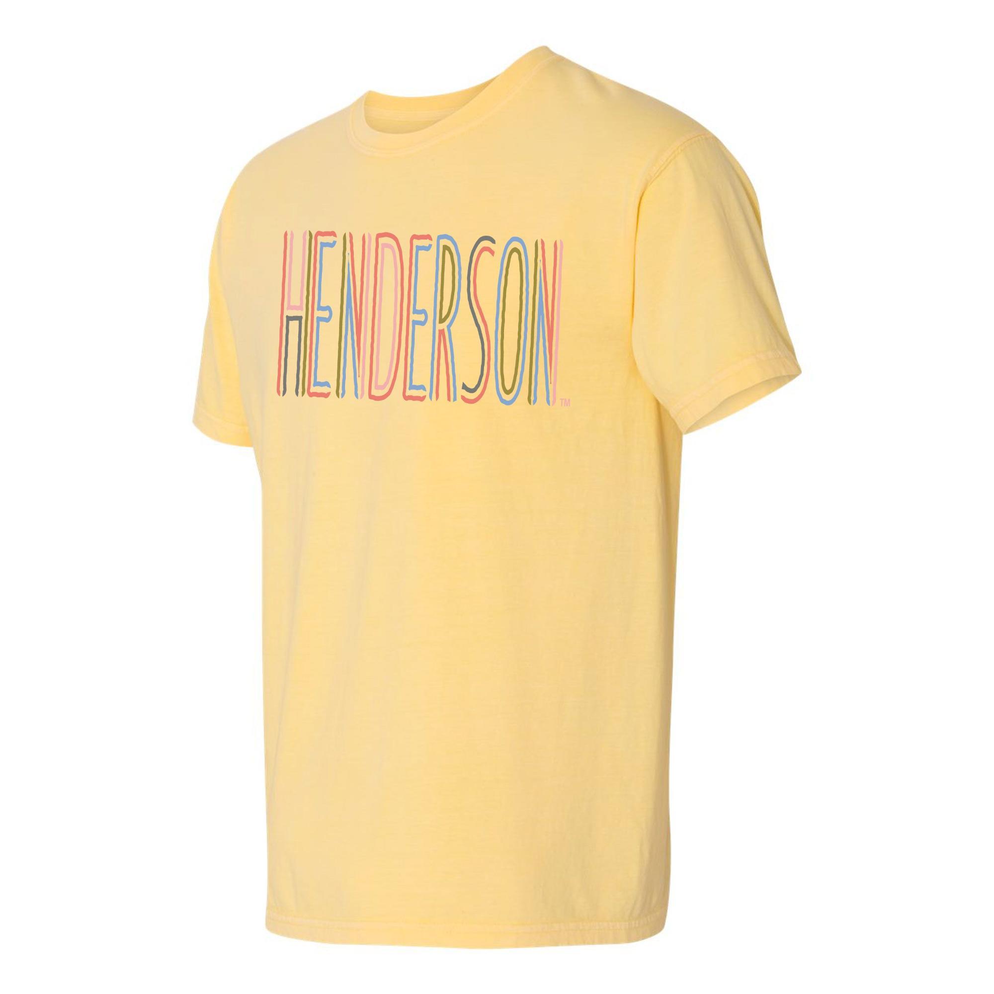 image of: Henderson Comfort Colors Ringspun Short Sleeve T-Shirt