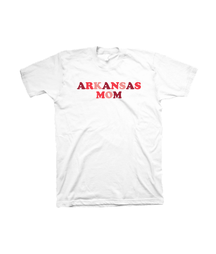 Women's Arkansas Mom Comfort Color Short Sleeve Tee- White