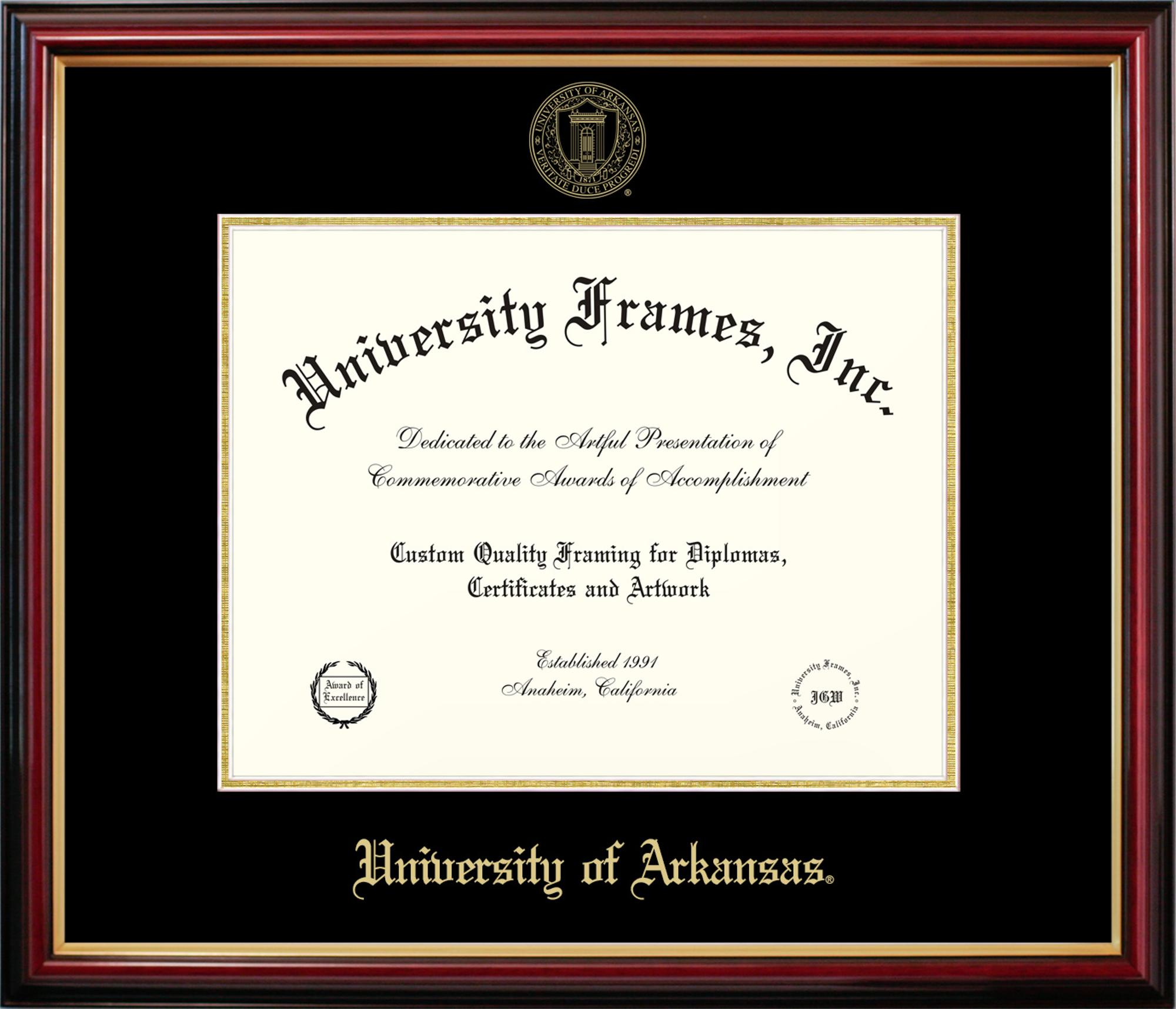 Image for University of Arkansas Petite Mahogany Diploma Frame