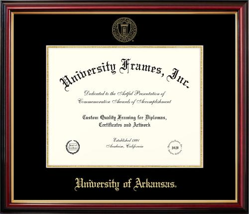University of Arkansas Petite Mahogany Diploma Frame