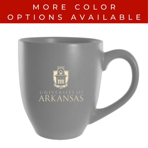 University of Arkansas LXG, Inc. 16oz Solid Bistro Mug - Cream & Grey
