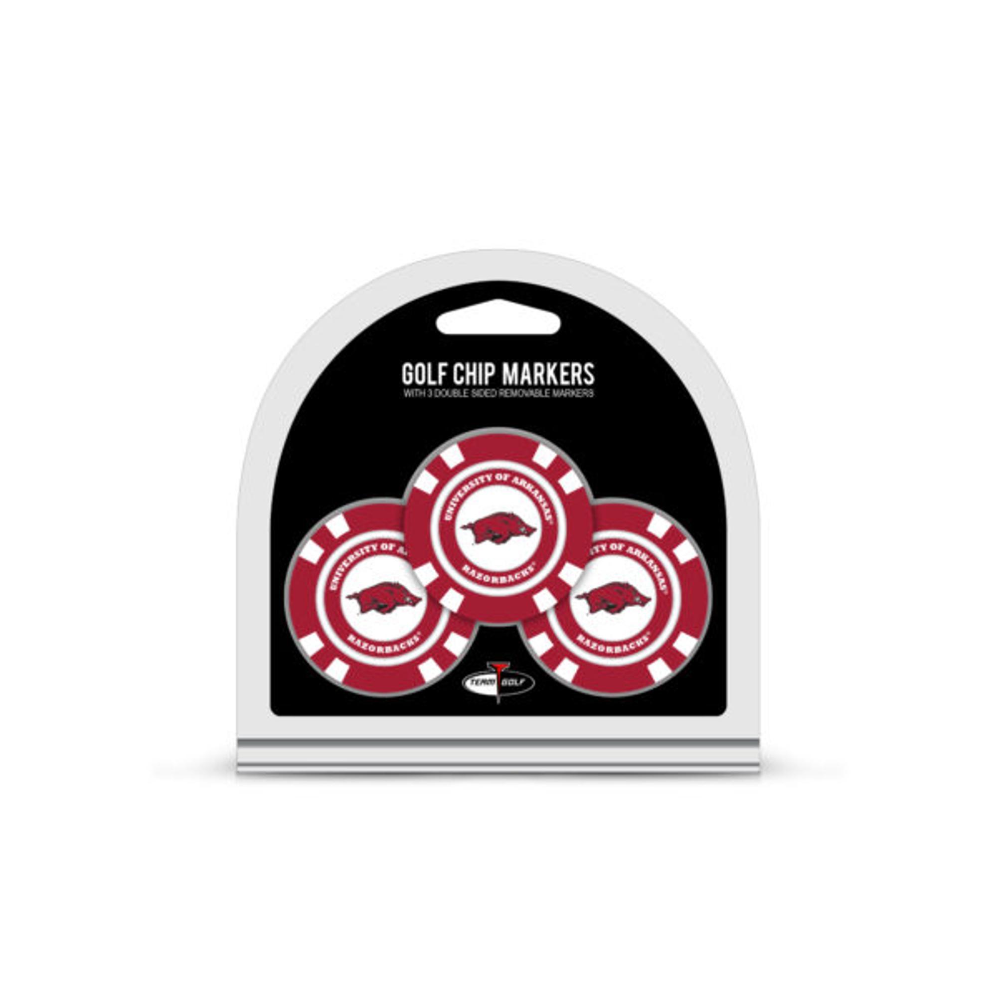 image of: Arkansas Razorbacks 3 Pack Golf Chip Ball Markers - Crimson