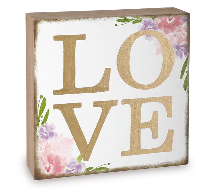 image of: Burton Floral Love Shelf Sitter