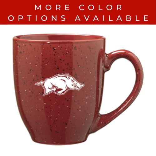 Arkansas Razorbacks LXG, Inc. 16oz Bistro Speckled Running Hog Mug