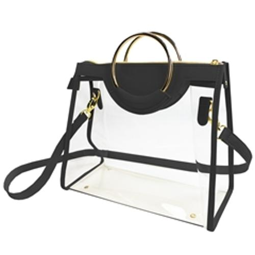 Classic Ring Tote- Black Clear Bag