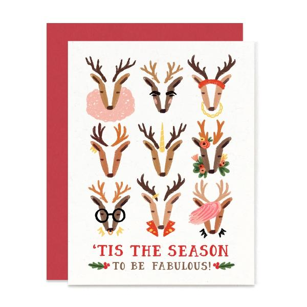 Fabulous Reindeer Christmas Card