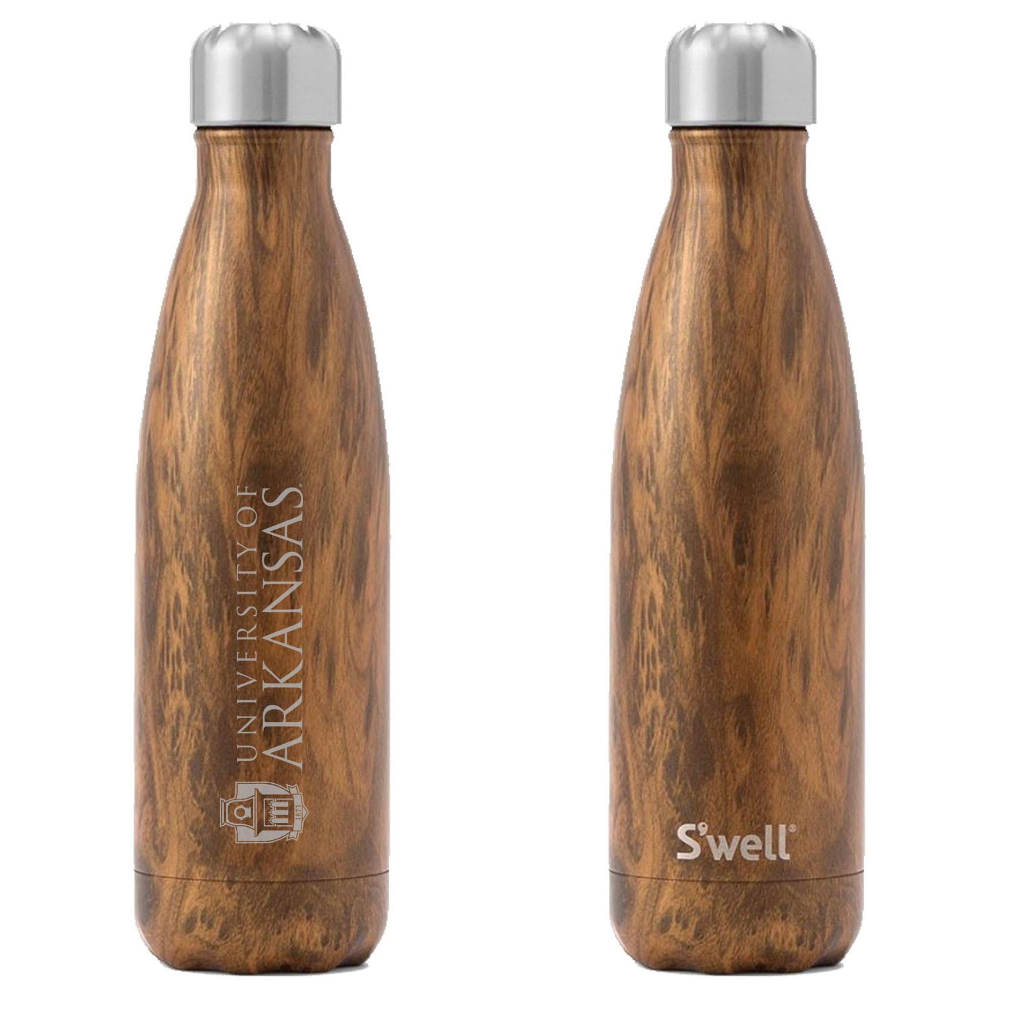 image of: University of Arkansas S'well 17oz Bottle- Teakwood