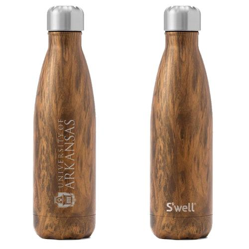 University of Arkansas S'well 17oz Bottle- Teakwood
