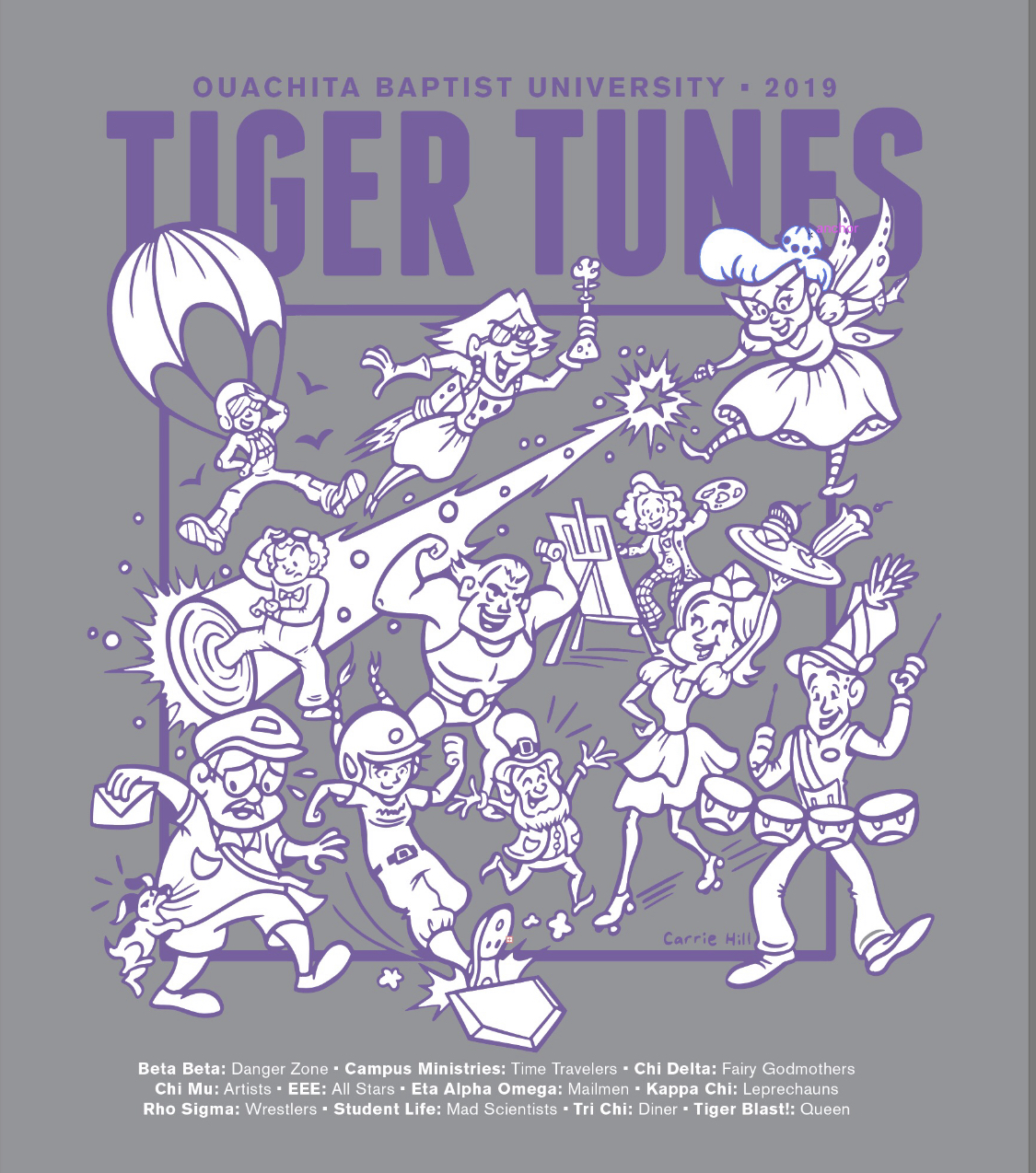 image of: 2019 TIGER TUNES LONG SLEEVE TEE