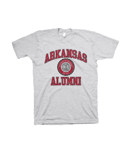 University of Arkansas Alumni Short Sleeve Tee- White