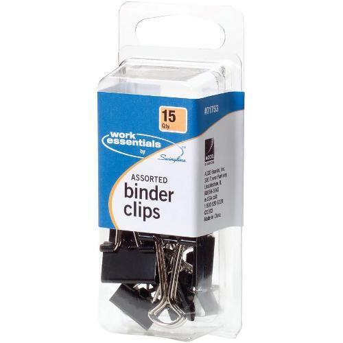 Swingline Assorted Binder Clips
