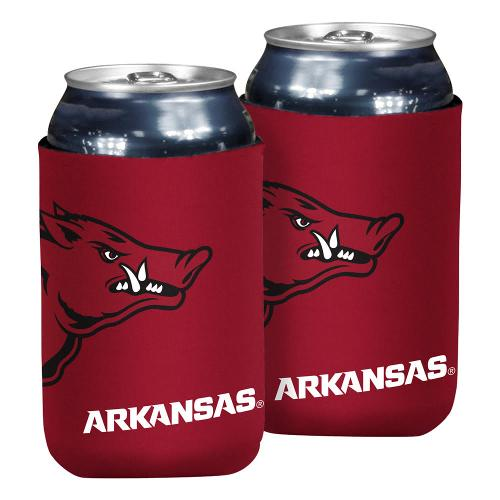 Arkansas Razorbacks Oversized Logo Flat Koozie