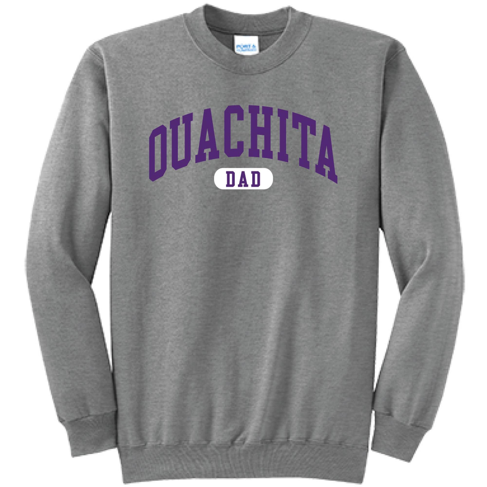 image of: Ouachita Dad Varsity Crew Neck Fleece