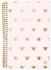 2020-2021 Soft Cover Planner Gold Bees