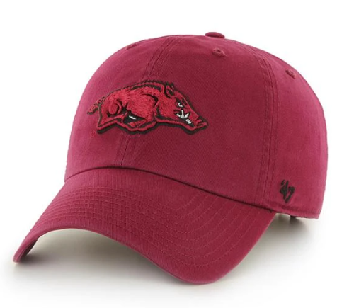 Arkansas Razorbacks '47 Youth Clean Up Hat - Dark Red
