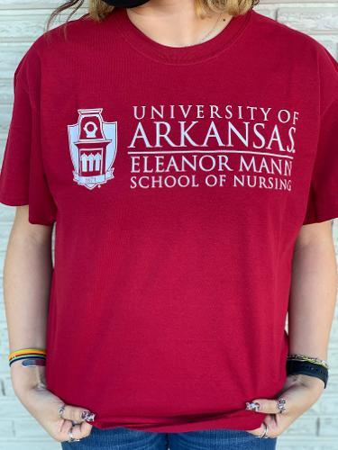 University of Arkansas Eleanor Mann School of Nursing Tee - Crimson