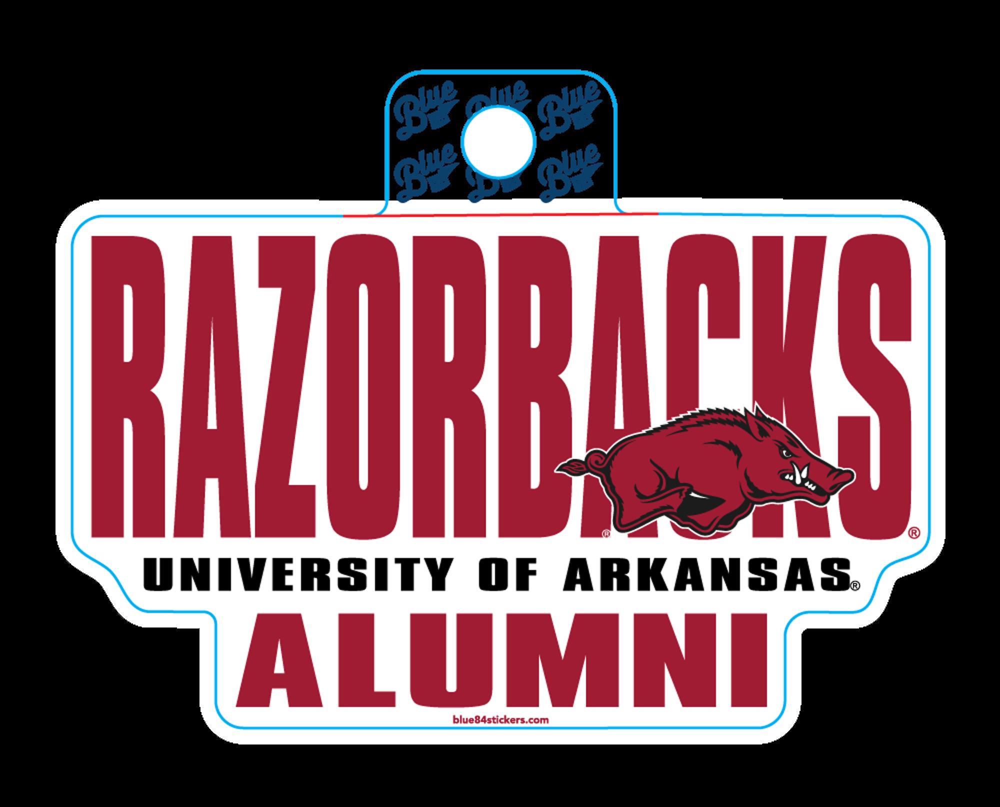 image of: Arkansas Razorbacks Blue 84 University of Arkansas Alumni Sticker