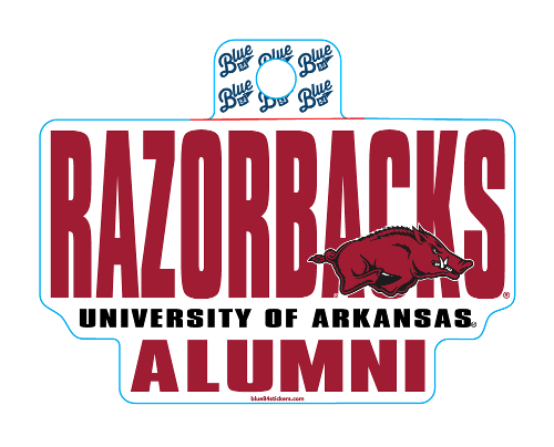 Arkansas Razorbacks Blue 84 University of Arkansas Alumni Sticker
