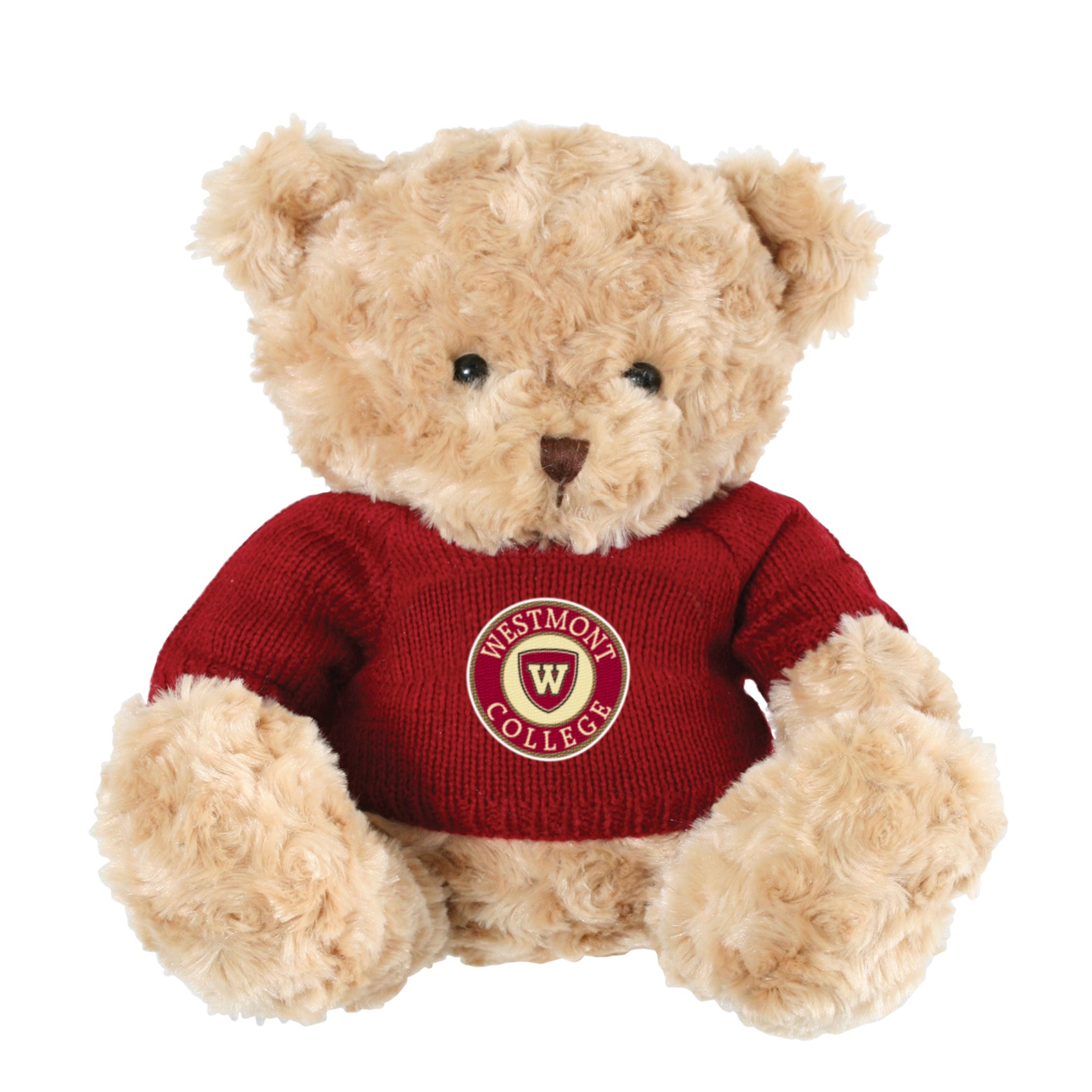 image of: Spirit Bear with Burgundy Sweater and Westmont College Patch