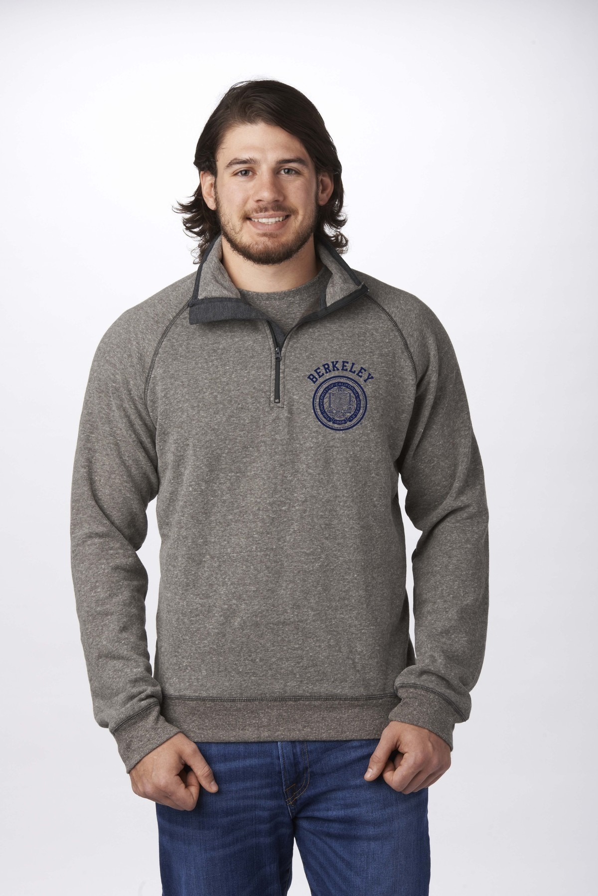 MD25-M 1/4 Zip Mock by Campus Crew